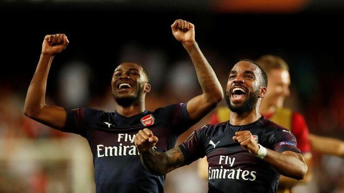 Arsenal melenggang ke final usai mendepak Valencia dengan agregat 7-3. (Foto: Andrew Boyers/Action Images via Reuters)