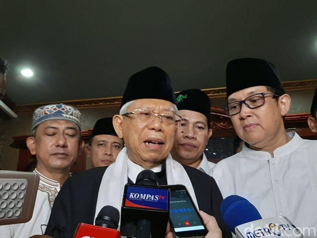 Maruf Amin soal Kabinet Zaken: Walaupun dari Parpol Harus Profesional