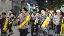 Kompak, Ronda Sahur Digelar Polisi dan TNI Kota Kediri