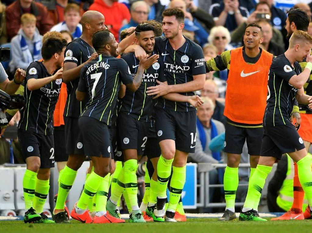City Kini Memimpin 4-1 atas Brighton, Guendogan Cetak Gol Keempat