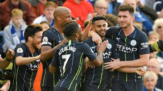 Manchester City sempat kesulitan di markas Brighton.