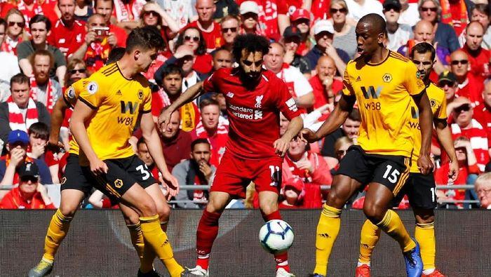 Liverpool menerima ujian berat kala menghadapi Wolverhampton di Anfield malam ini (Phil Noble/Reuters)