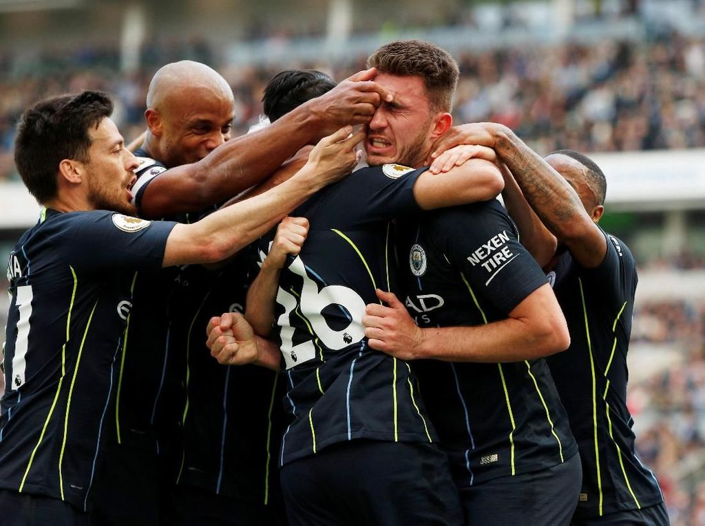 Mahrez Bawa Man City Unggul 3-1 atas Brighton