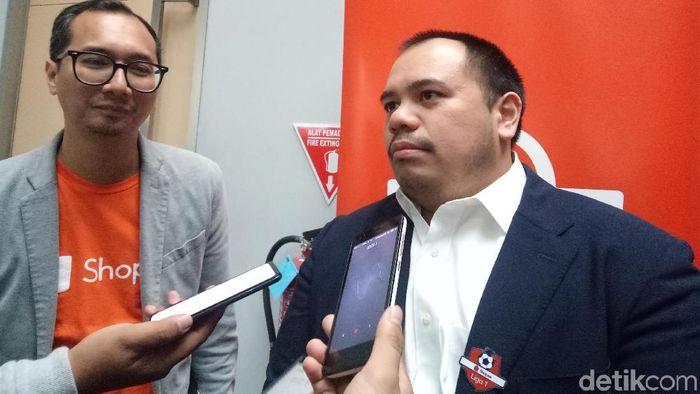 Presiden Komisaris SEA Grup Induk Perusahaan Shopee Pandu Sjahrir (Amalia Dwi Septi/detikSport)