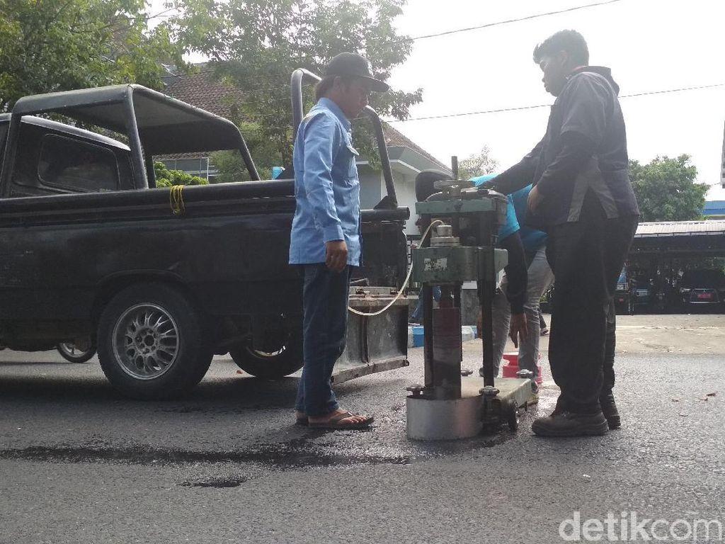 Perbaikan Jalan di Tulungagung Dikebut Jelang Mudik