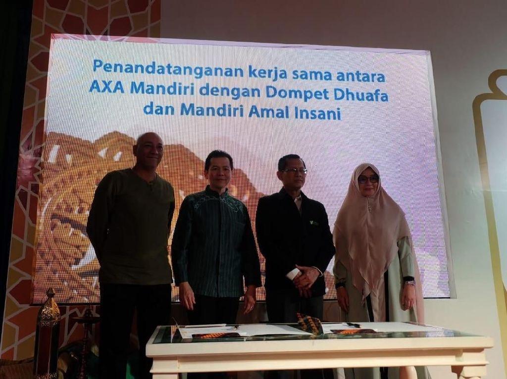 Permudah Nasabah Berwakaf, AXA Mandiri Syariah Kenalkan Fitur Baru