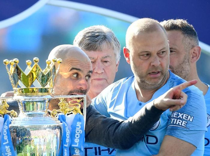 Manajer Manchester Cty, Josep Guardiola. (Foto: Toby Melville/Reuters)