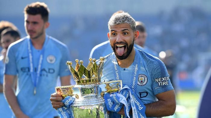 Pemain Manchester City, Sergio Aguero. (Foto: Mike Hewitt/Getty Images)