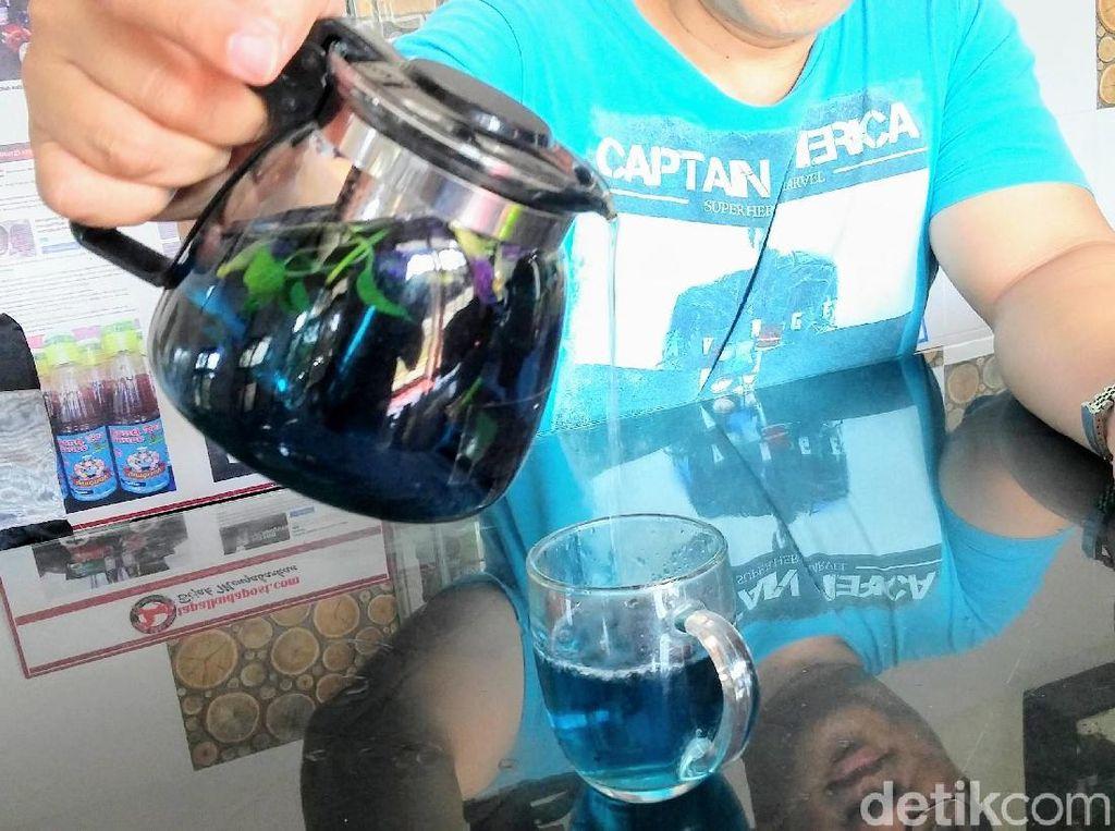 Ini Blue Fire Tea, Teh Biru Cantik Kaya Khasiat dari Bondowoso