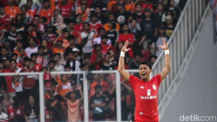 Maman Abdurrahman minta persija Jakarta tak menyepelekan Tira Persikabo.  (Rifkianto Nugroho/detikSport)