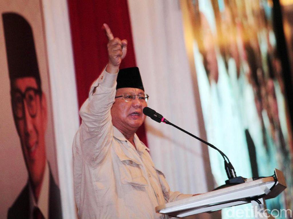 Pidato Berapi-api Prabowo di Simposium Kecurangan Pemilu
