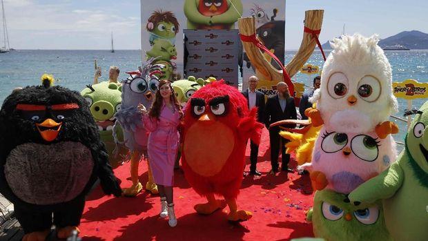 Karakter Angry Birds dalam gelaran Cannes 2019.