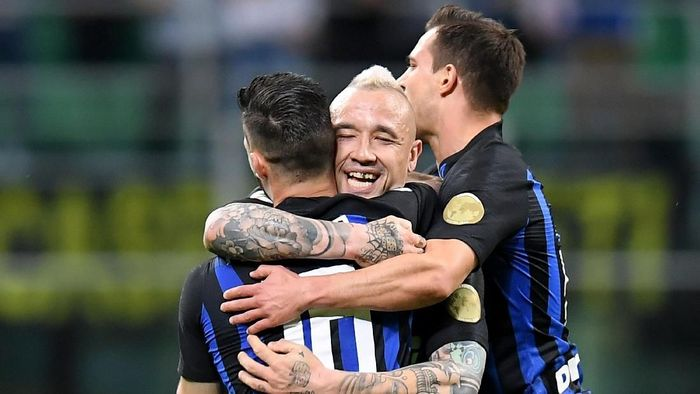 Inter Milan kembali ke tiga besar klasemen Serie A usai kalahkan Chievo (REUTERS/Daniele Mascolo)