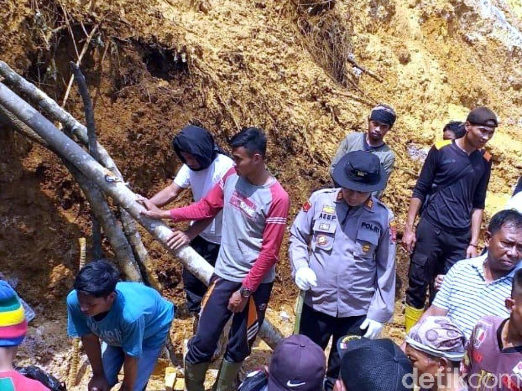 Pencarian Penambang Emas Liar di Pongkor Selesai, 2 Orang Meninggal 6 Selamat