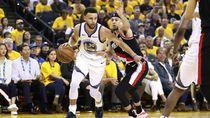 Hasil NBA: Curry Gemilang, Warriors Kalahkan Blazers