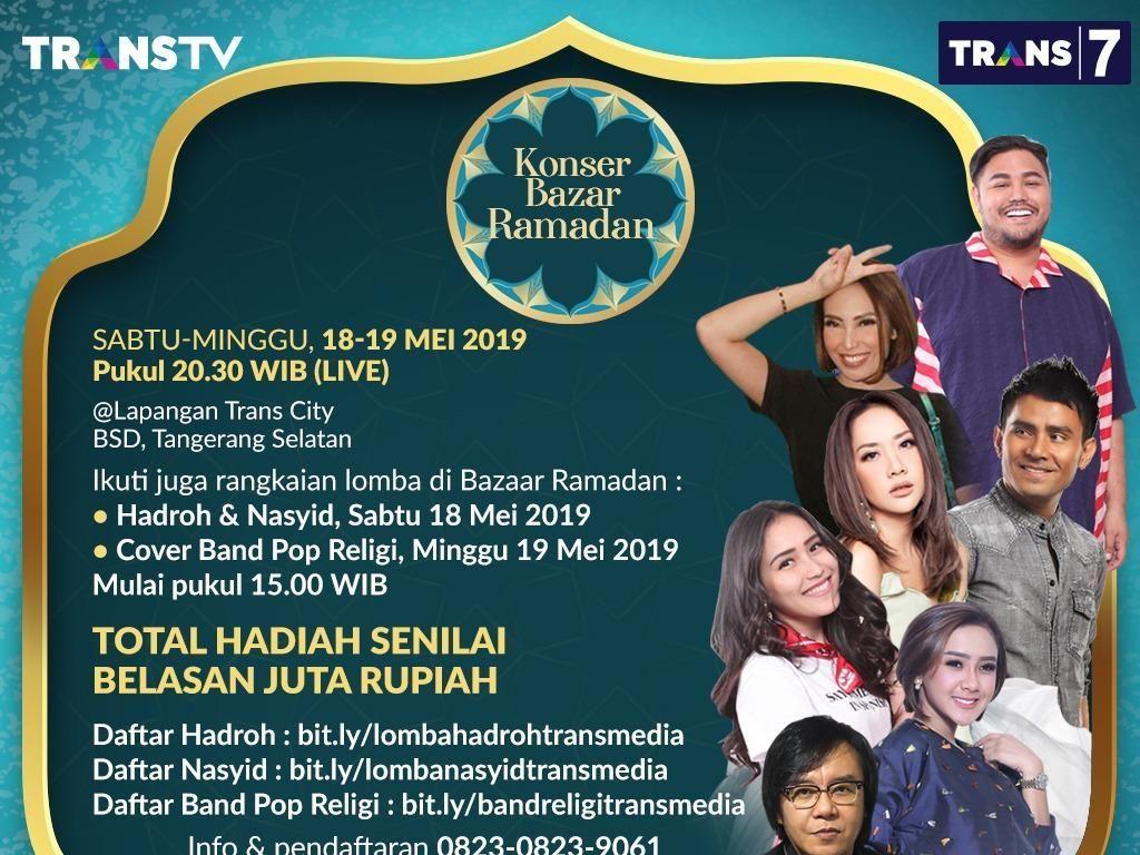 Weekend Ini Bingung Mau Ngapain? Yuk Nonton Konser Bazar Ramadan