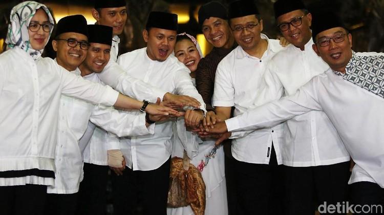Satukan Tangan, 8 Kepala Daerah Plus AHY-Yenny Sepakat Jaga Kedamaian