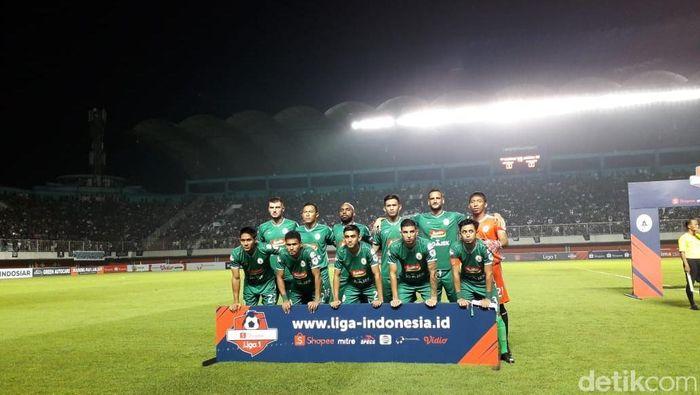 PSS Sleman di laga perdana Liga 1 2019. (Foto: Ristu Hanafi/dettikcom)