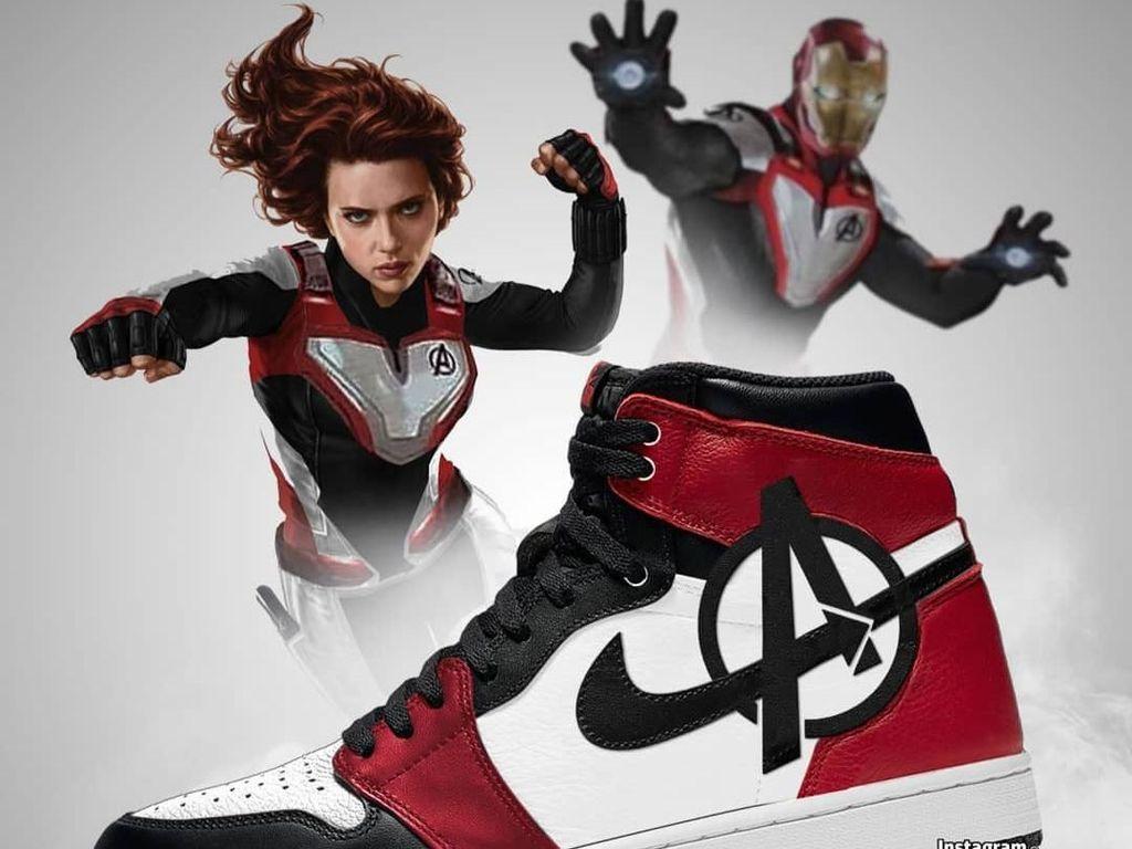 Cuma Imajinasi Seniman, Tapi Sneakers Nike Avengers: Endgame Ini Tetap Keren