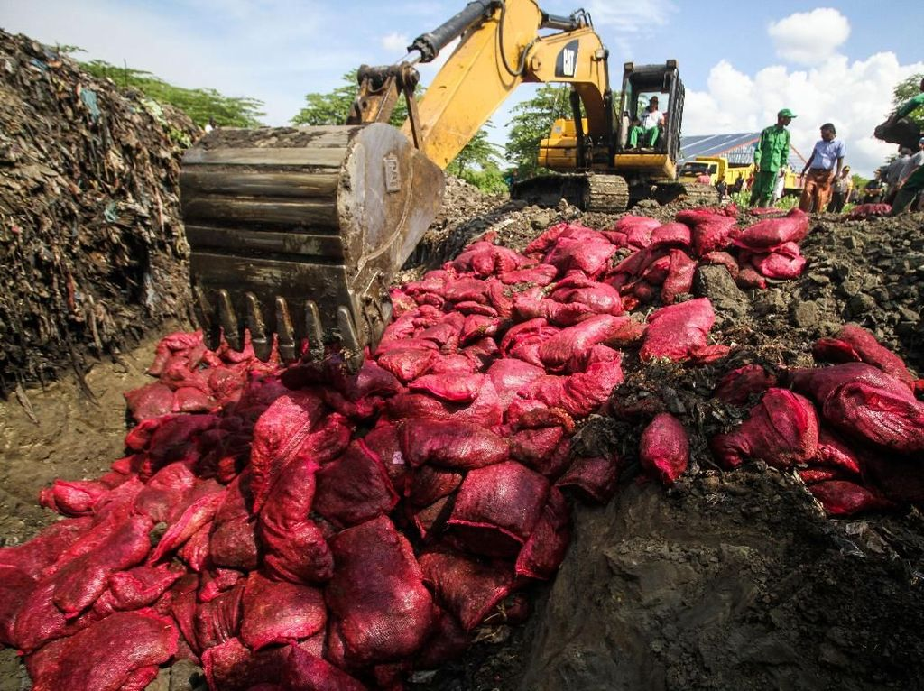 70 Ton Bawang Merah Ilegal Dimusnahkan di Aceh
