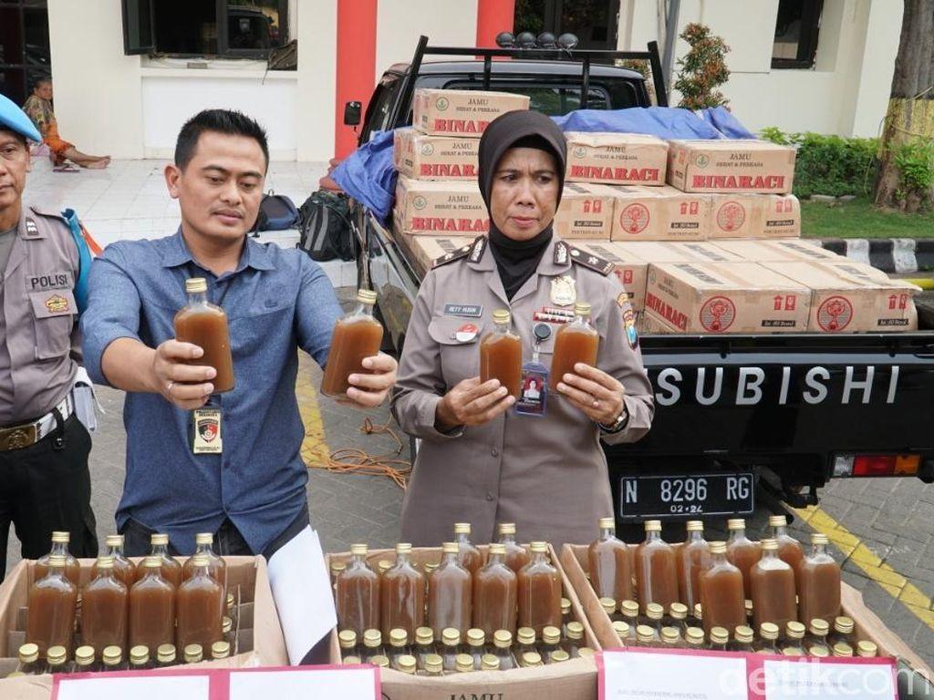 Razia di Jalan Tol, Polisi Temukan 5.250 Botol Jamu Ilegal