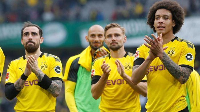 Borussia Dortmund akan melakoni partai penentuan juara Bundesliga akhir pekan ini dengan menghadapi Borussia Moenchengladbach. (Foto: Leon Kuegeler/Reuters)