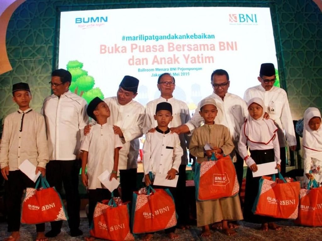 BNI Buka Puasa Bersama Anak Yatim