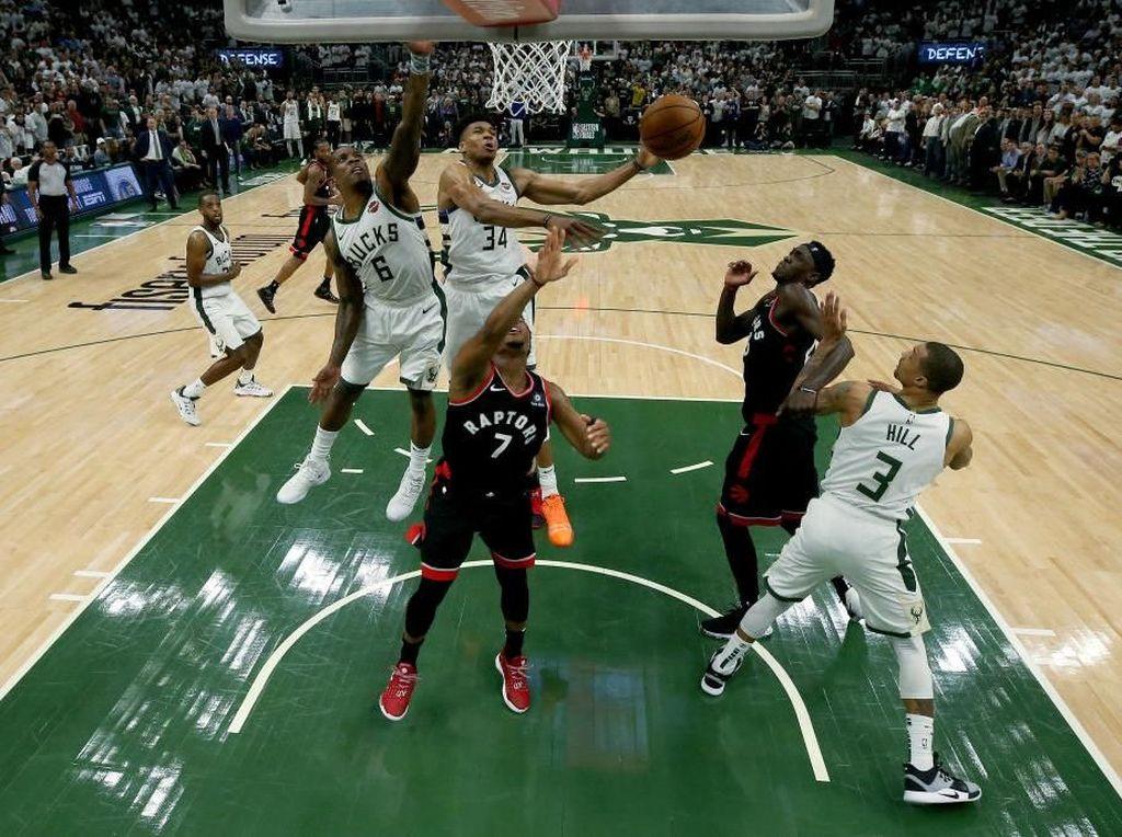 Hasil NBA: Bucks Bungkam Raptors di Game 1 Final Wilayah Timur