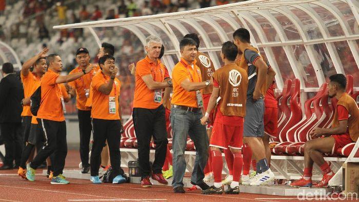 persija Jakarta usai mengalahkan Shan United 6-1 di SUGBK, Kamis (15/5/2019) dalam lanjutan Piala AFC. (Rifkianto Nugroho/detikSport)