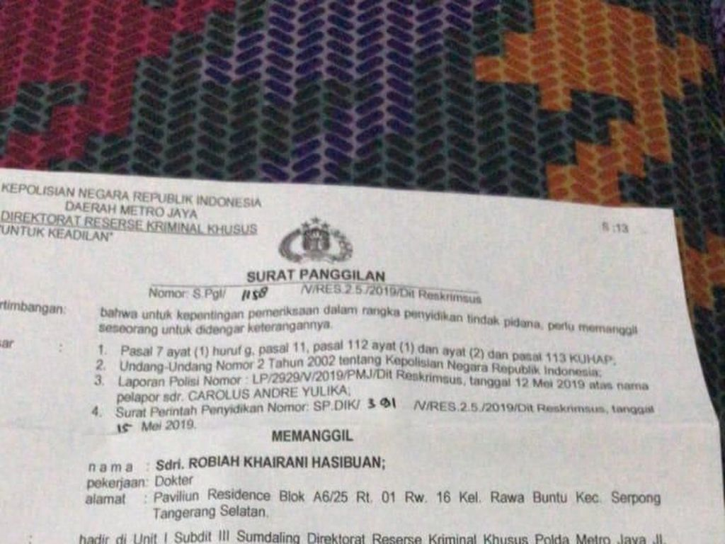 dr Ani Hasibuan Dipanggil Polda Metro karena Isu Pendemo Bawaslu Diracun