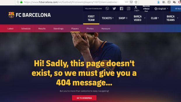 Situs resmi Barcelona error.