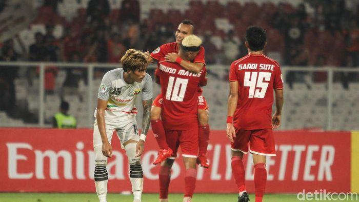 Riko Simanjuntak di Persija Jakarta saat menghadapi Shan United di SUGBK, Rabu (16/5/2019) (Rifkianto Nugroho/detikSport)