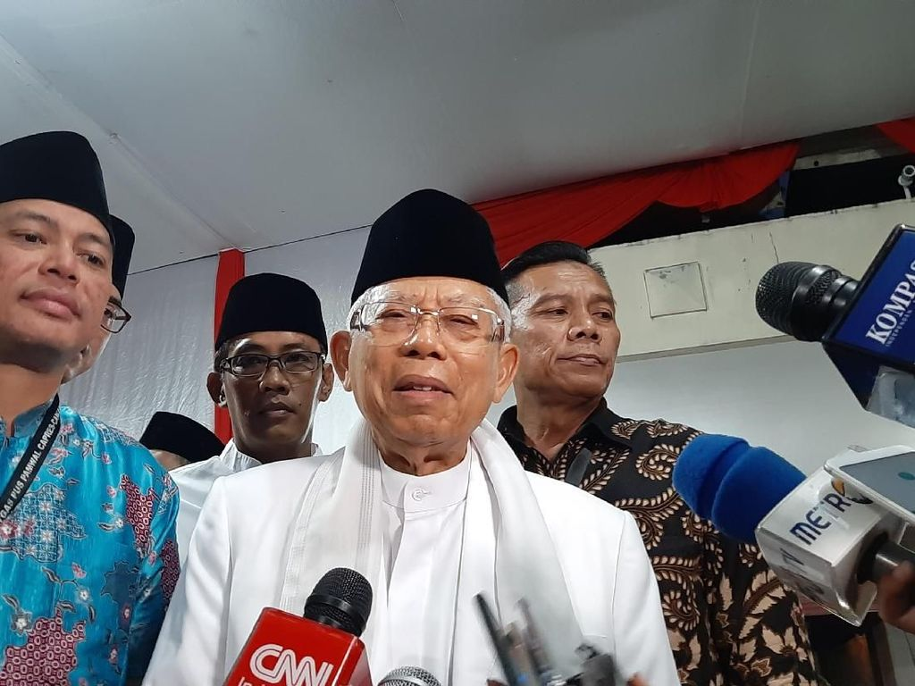 Soal Haikal Hassan Usul Sowan, Maruf Amin: Boleh Saja, Silakan
