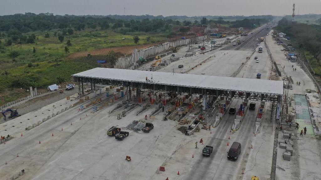 Penampakan Terkini Pembangunan Gerbang Tol Cikampek Utama