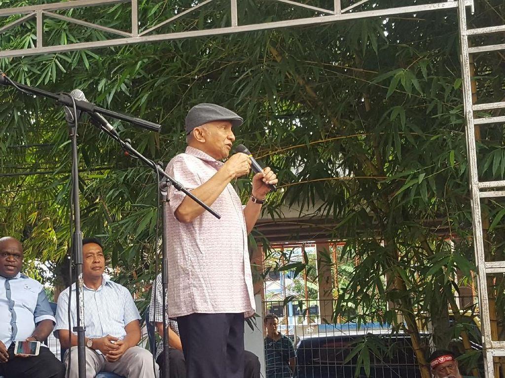 Amien Rais Peringatkan Wiranto: Jangan Main-main dengan Kita!