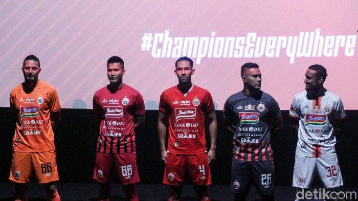 Persija meluncurkan skuat tim di Jakarta. (Rifkianto Nugroho/detikSport)