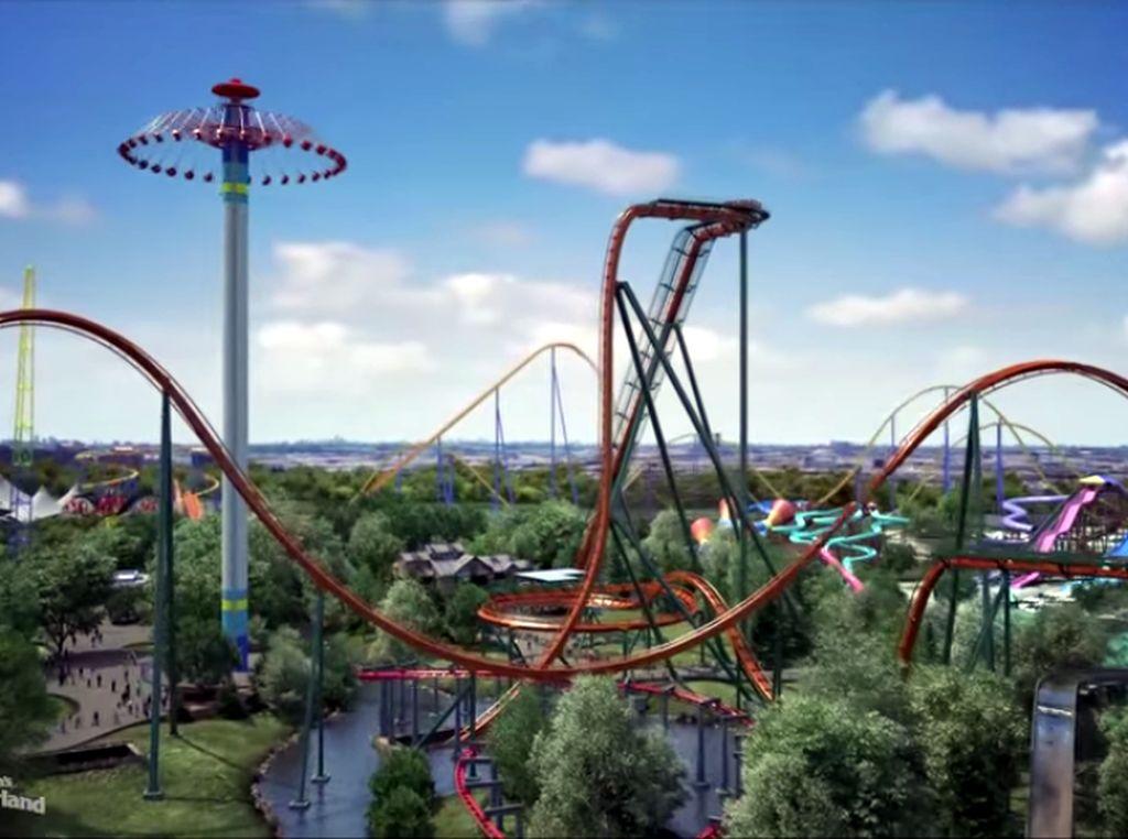 Inilah Roller Coaster Tercepat, Tertinggi & Terpanjang Sedunia