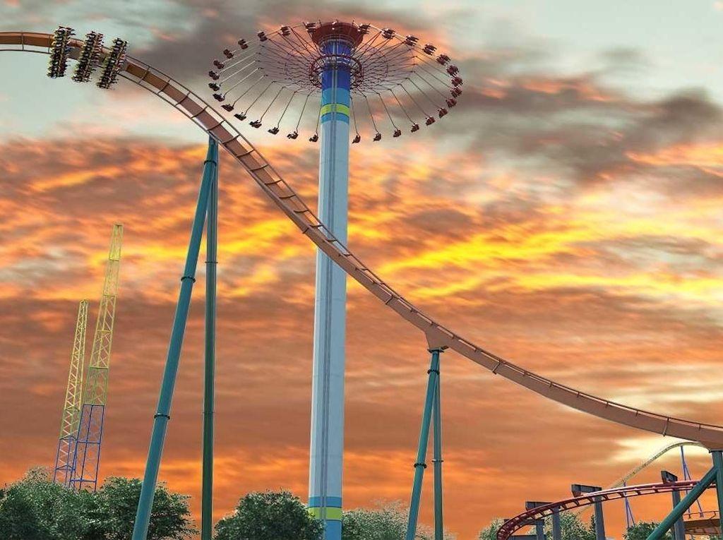 Foto: Roller Coaster Tercepat, Tertinggi & Terpanjang di Dunia