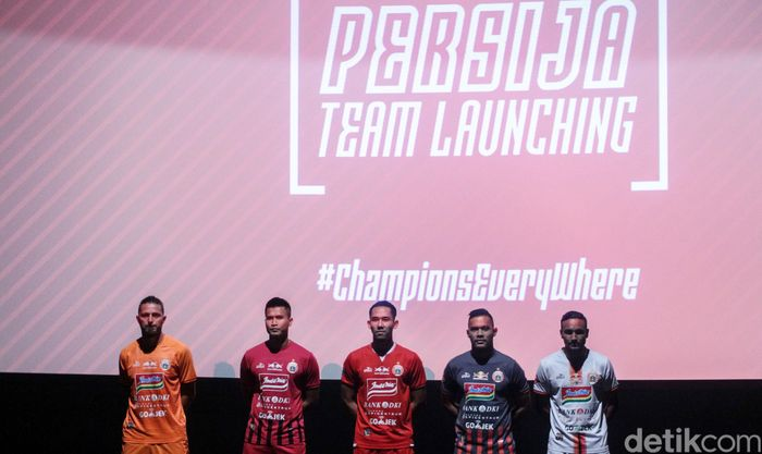 Peluncuran skuat dan jersey Persija digelar di Epicentrum XXI, Jakarta, Jumat (17/5/2019).