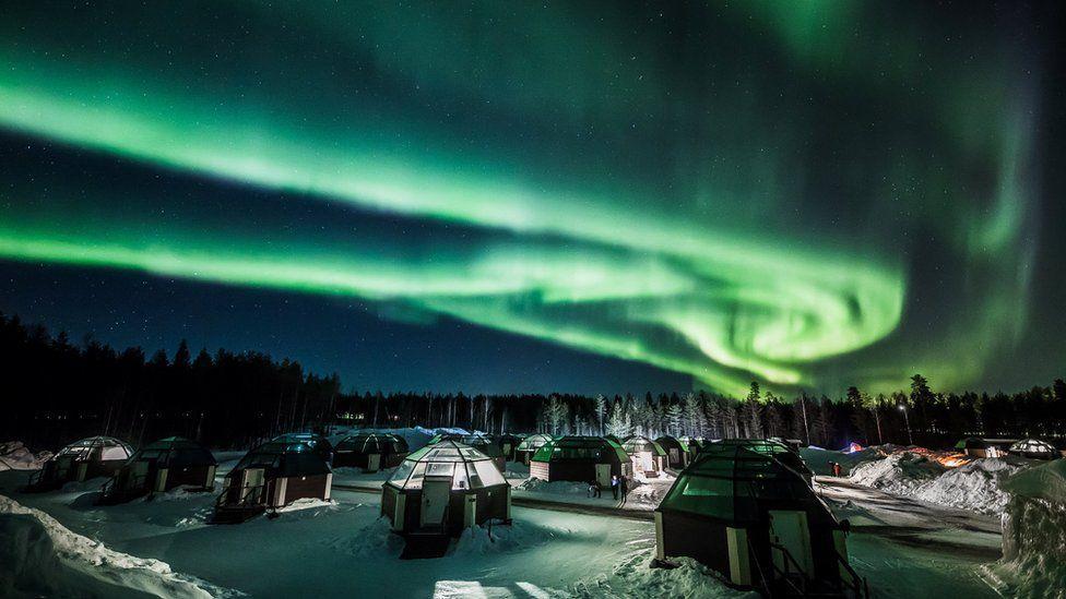 Letusan Matahari timbulkan badai geomagnetik sehingga Aurora Borealis tampak lebih jelas