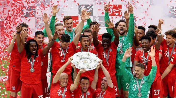 Bayern Munich meraih gelar juara liga ketujuh beruntun. (Foto: Andreas Gebert / Reuters)