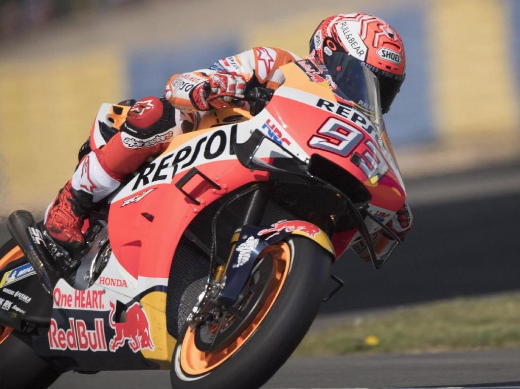 Kualifikasi MotoGP Prancis: Sempat Crash, Marquez Rebut Pole Position