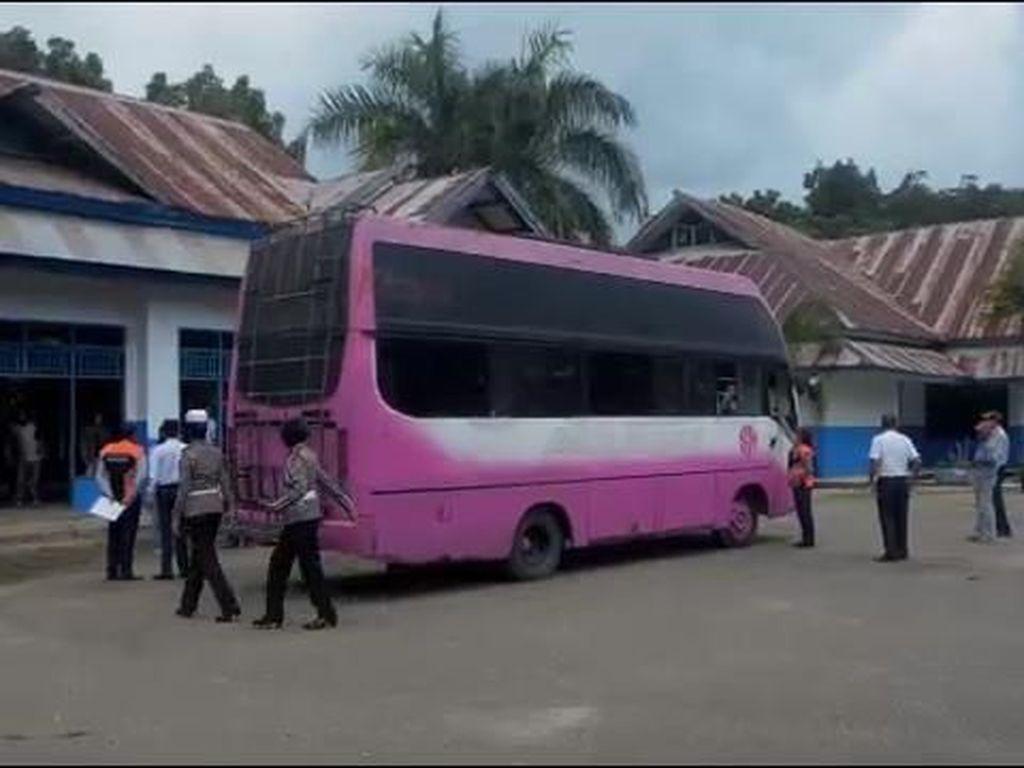Volume Dikembungkan, Bus Ini Diamankan Petugas