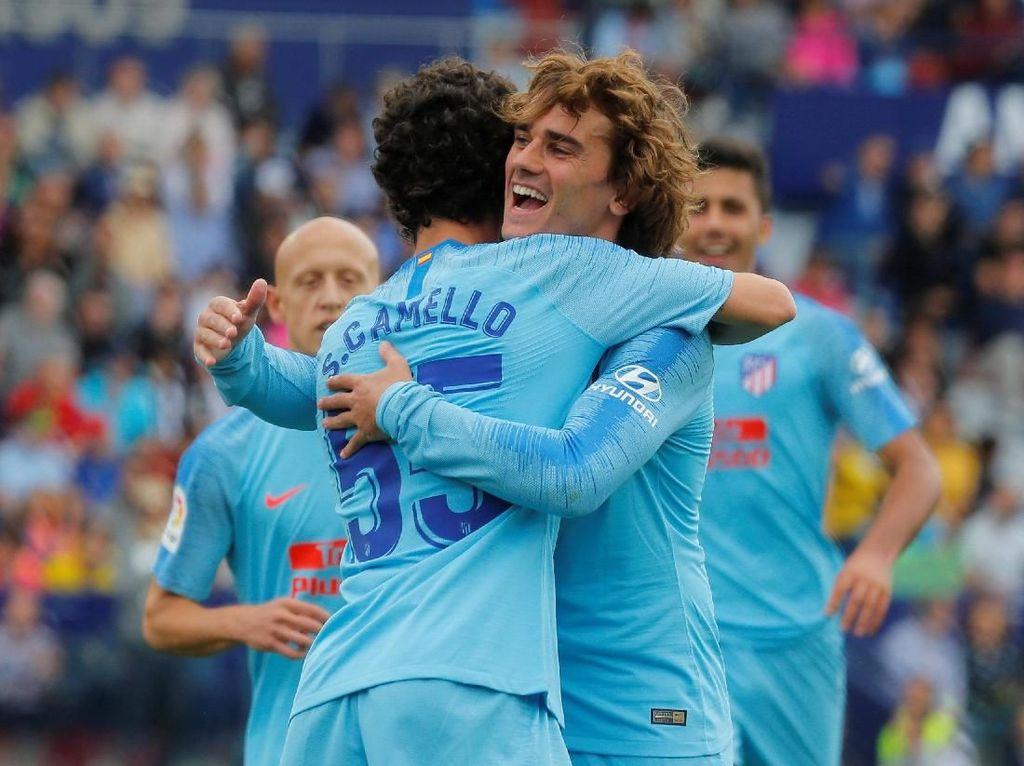 10 Pemain Atletico Tahan Levante 2-2 di Pekan Terakhir Liga Spanyol