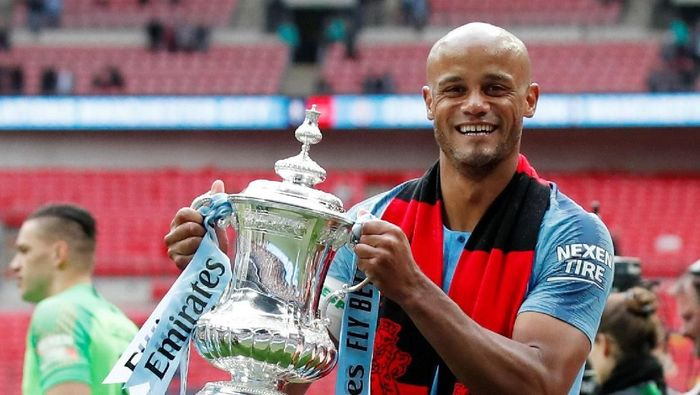Pemain Manchester City, Vincent Kompany. (Foto: David Klein/Reuters)
