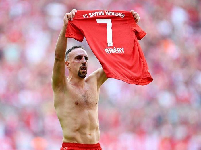 Franck Ribery memenangi sembilan titel Bundesliga, menjadi pemain tersukses di kompetisi itu. (Foto: Andreas Gebert / Reuters)