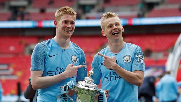 Pemain Manchester City, Kevin De Bruyne. (Foto: David Klein/Reuters)