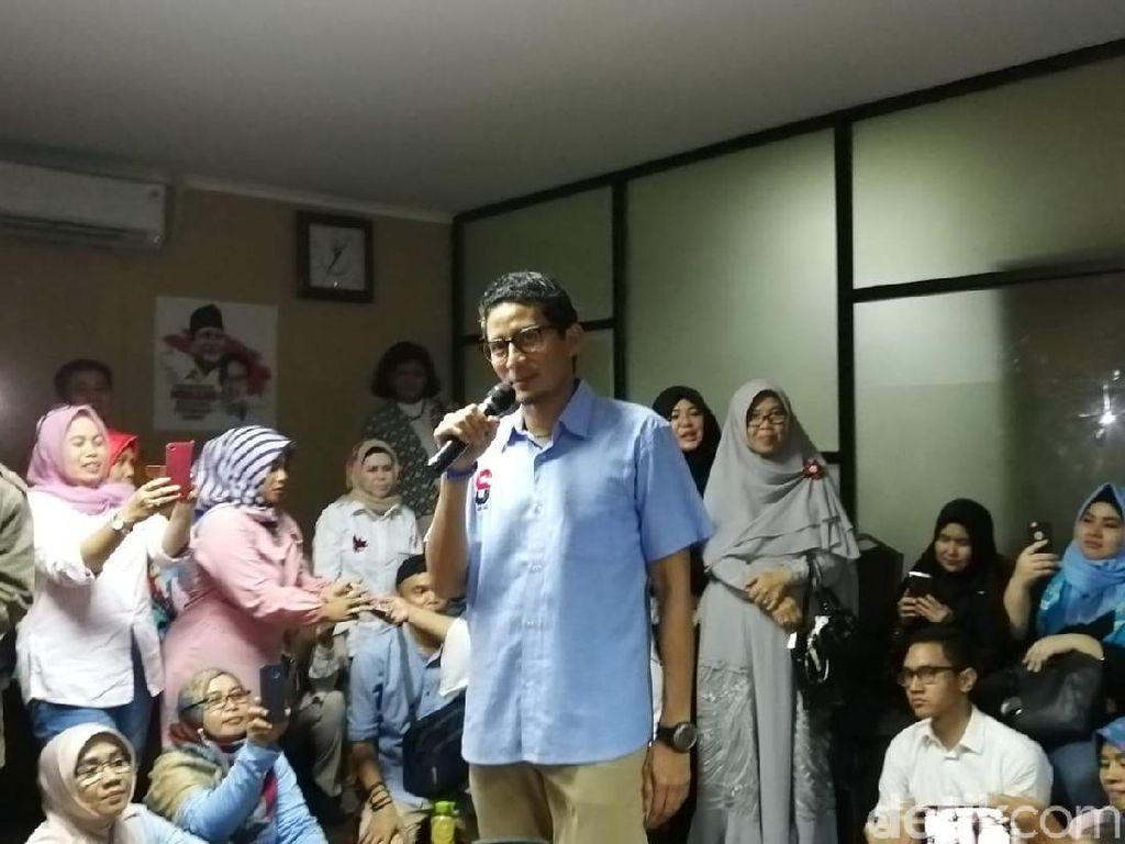 Pengumuman Pilpres di Depan Mata, Prabowo-Sandi Bahas Langkah yang Diambil