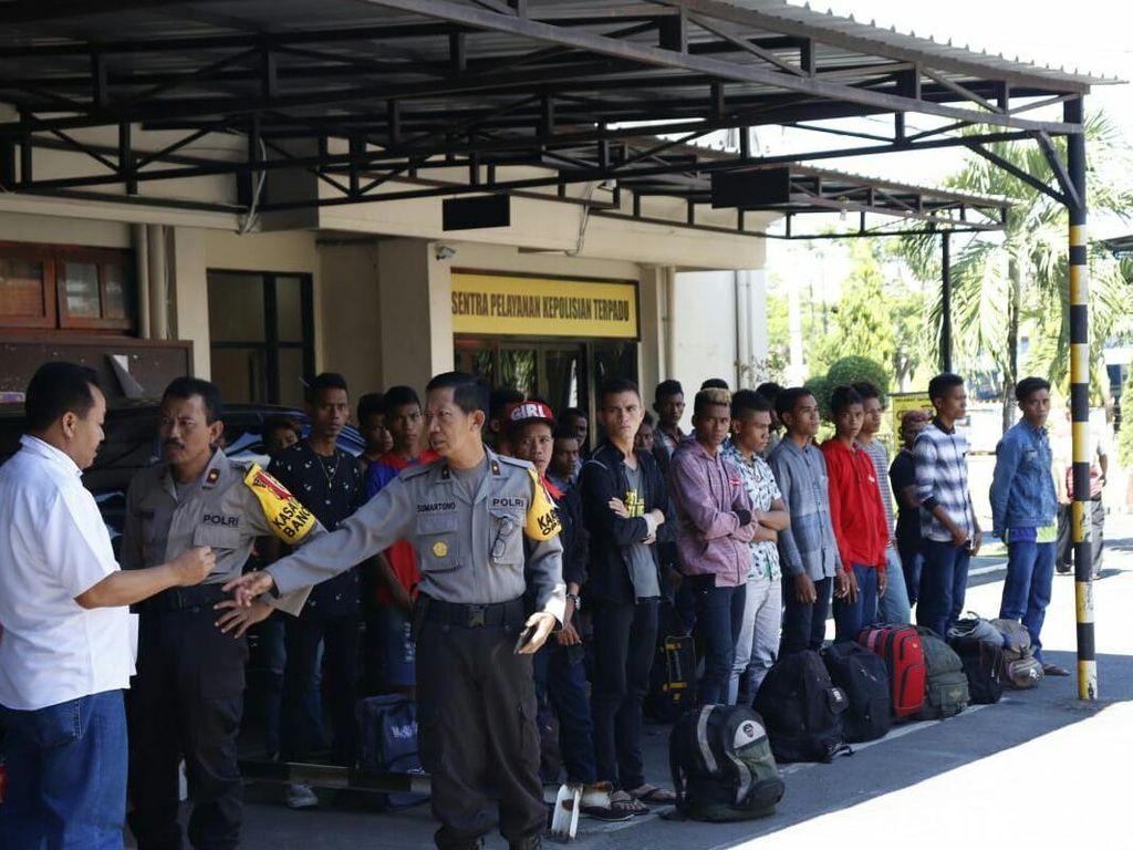26 Orang Diduga Ikut Aksi 22 Mei Akhirnya Dipulangkan Polisi Banyuwangi