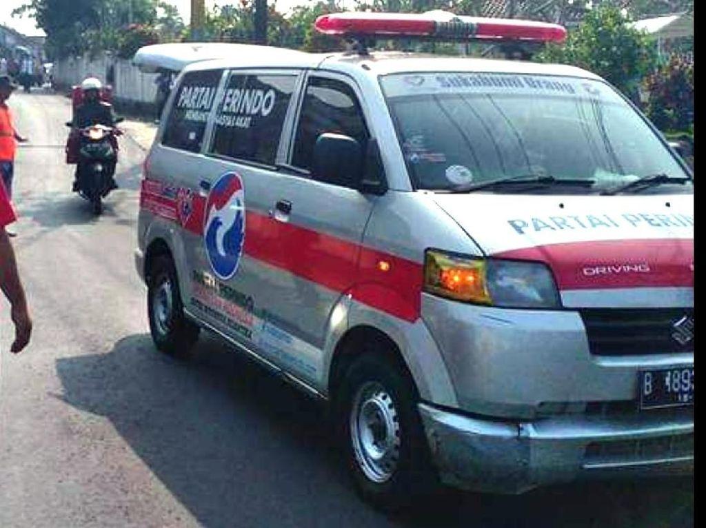 Duplikat Kunci, Pencuri Bawa Kabur Ambulans Milik Perindo Sukabumi